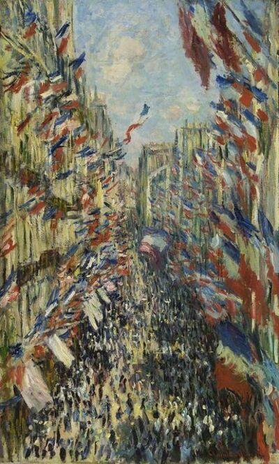 Claude Monet, 'The Rue Montorguile, Paris - Clebration Of June 30th, 1878 ', 20th Century