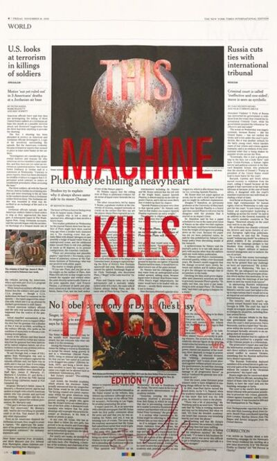 Adam Broomberg & Oliver Chanarin, 'This machine kills the fascists', 2016