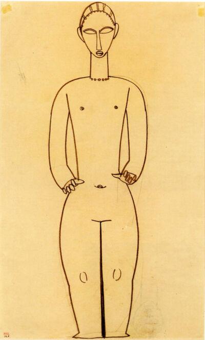 Amedeo Modigliani, 'Ermafrodito', 1910-1911