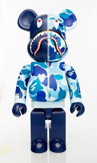 BE@RBRICK X BAPE, 'Shark Hoddie 1000% (Blue)', 2015