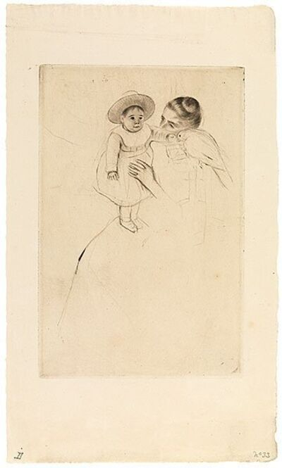 Mary Cassatt, 'Helene of Septeuil (Enfant au perroquet)', ca. 1890