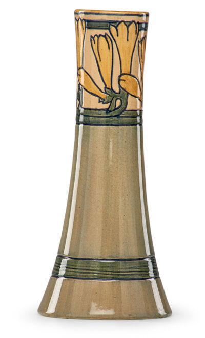 Marie De Hoa Leblanc, 'Tall early vase with yellow freesia', 1904