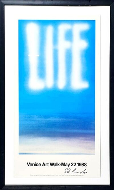 Ed Ruscha, 'LIFE (Hand Signed) ', 1988
