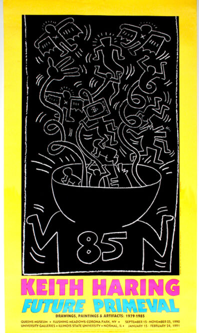 Keith Haring, 'Future Primeval poster', 1990