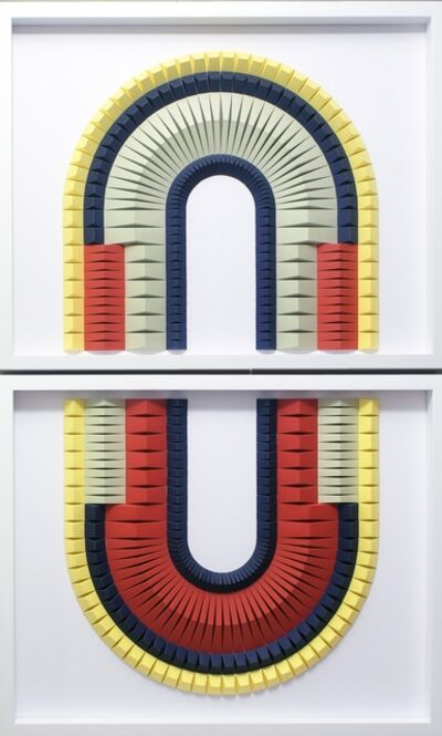 Yossi Ben Abu, 'BiPolar 2 Geometric abstract wall sculpture', 2019