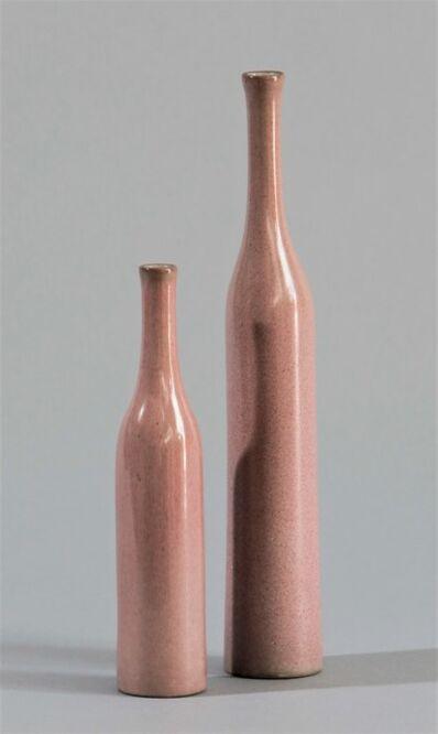 Jacques & Dani Ruelland, 'Vases Bouteilles Rose', ca. 1970