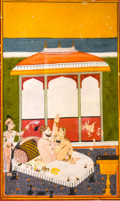India, Mewar, 'A Prince with his Consort on a Terrace', 18th century