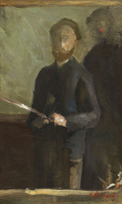 """Édouard Vuillard, 'Self-Portrait (Étude pour """"Autoportrait avec Waroquy"""")', 1889"""