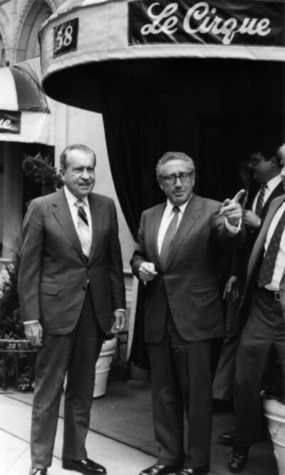 Bill Cunningham, 'Richard Nixon and Henry Kissinger', ca. 1970s