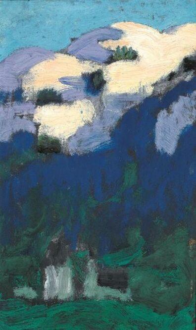 Alfons Walde, 'Twilight over Kitzbühel', ca. 1925