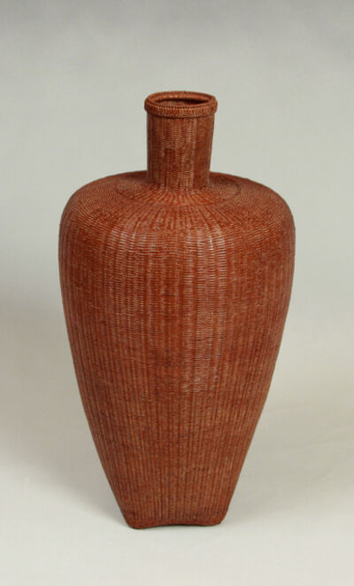 Tanabe Chikuunsai II, 'Mimi-tsuki Tsubogata (Jar Shaped Basket with a Round Handle)', after 1945