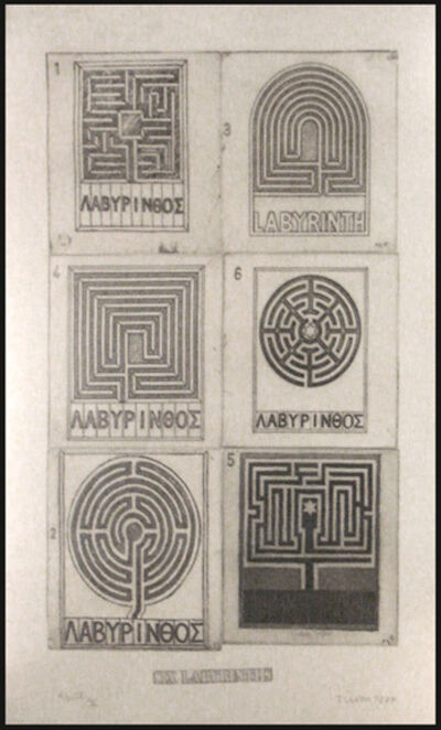 Joe Tilson, 'Six Labyrinths', 1977