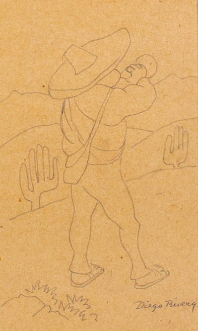 Diego Rivera, 'Jeune paysan à la trompette (Campesino con trompeta)'