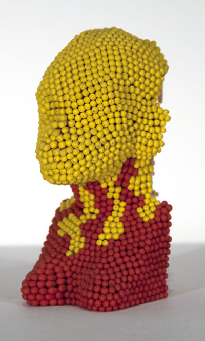 David Mach, 'Matchstick Head (small yellow head and red shoulders)'