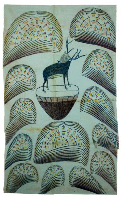 Martín Ramírez, 'Untitled, (Stag on Mound with Fireworks)', 1952-1953