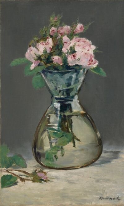 Édouard Manet, 'Moss Roses in a Vase', 1882