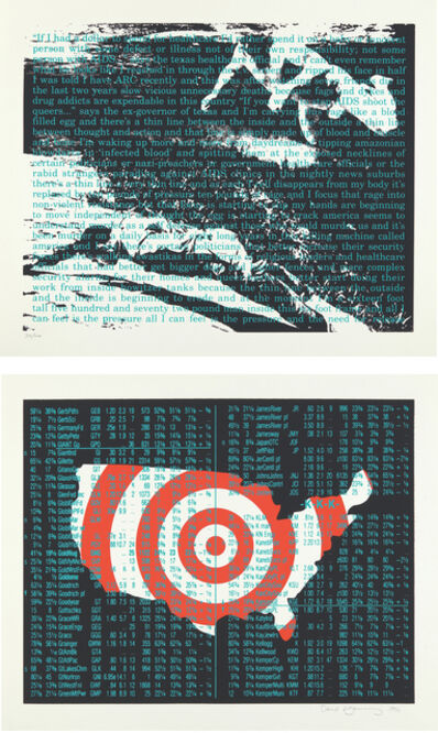 David Wojnarowicz, 'Untitled (Act Up Diptych)', 1990