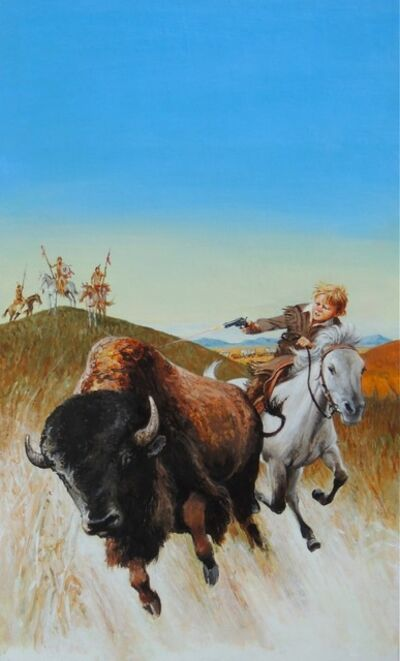 Louis S. Glanzman, 'Buffalo Attack', 2003