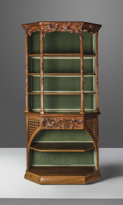 Attributed To Louis Majorelle, 'A vitrine'
