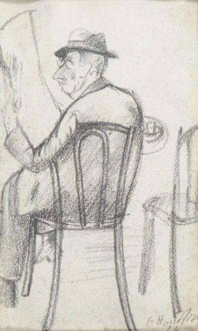 Ottone Rosai, 'Uomo che legge', 1924