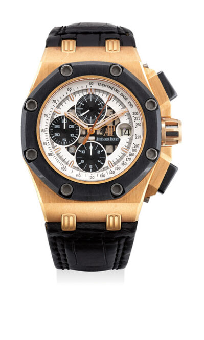 Audemars Piguet, 'A fine pink gold and ceramic chronograph with date, numbered 374 of a limited edition of 500 pieces', Circa 2006