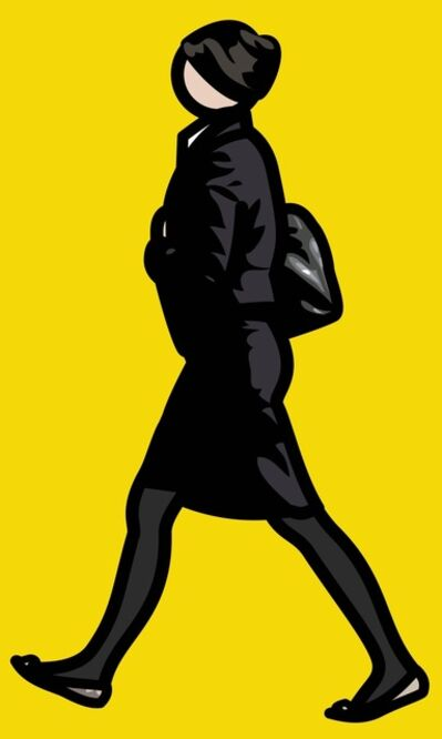 Julian Opie, 'WOMAN IN BLACK SUIT AND TIGHTS WITH BAG', 2012