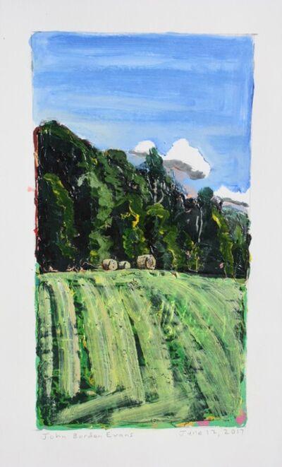 John Borden Evans, 'Three Hay Bales', 2017