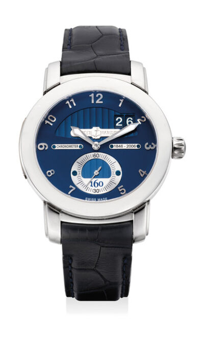 Ulysse Nardin, 'A fine limited edition white gold wristwatch with small center seconds, date, guarantee and box, numbered 151 of a limited edition of 500 pieces', Circa 2006