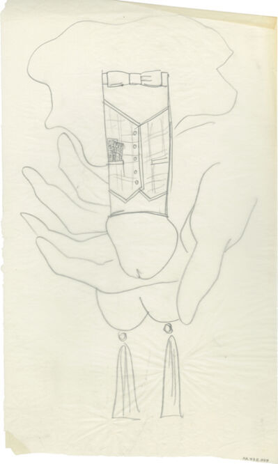 Andy Warhol, 'n.t. (Dick Dressed in a Vest)', ca. 1956