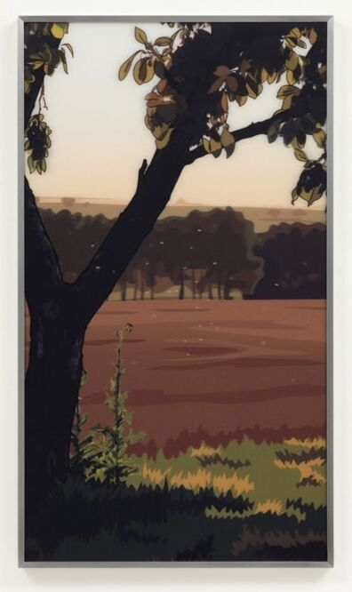 Julian Opie, 'French Landscapes: Evening Sun'