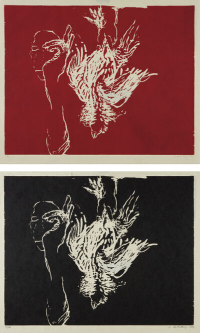 Susan Rothenberg, 'Dead Rooster (Red); and Dead Rooster (Black)', 1993