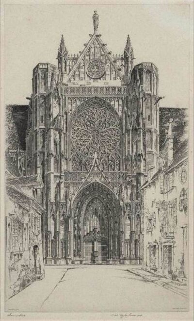John Taylor Arms, 'Gothic Glory, Sens Cathedral (Fletcher 218)', 1929