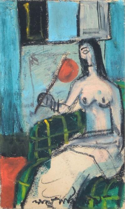Lalu Prasad Shaw, 'Lady with Pankha - I', 1959