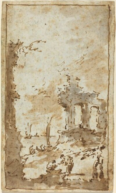 Francesco Guardi, 'A Capriccio of Ruins by the Lagoon'