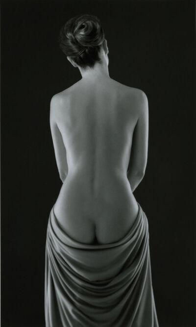 Ruth Bernhard, 'Draped Torso', 1962