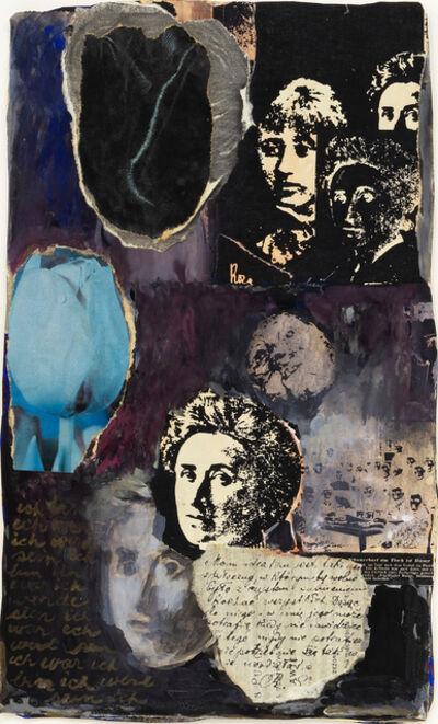 May Stevens, 'Blue Tulip Black Tulip', 1984