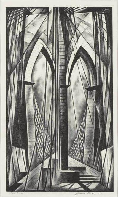 Howard N. Cook, 'Brooklyn Bridge (Duffy 214)', 1949
