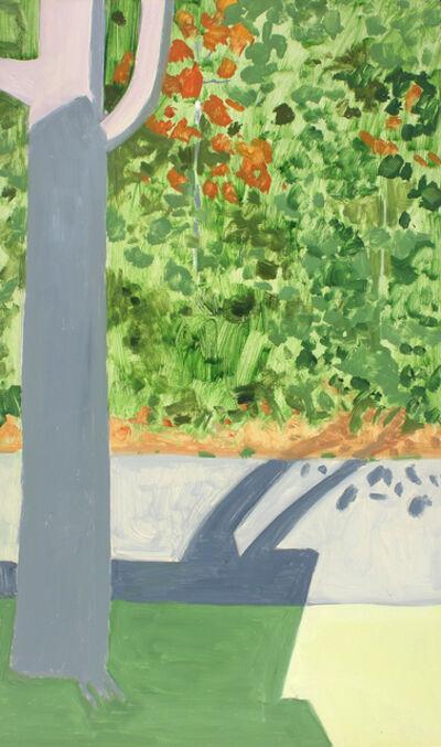 Lois Dodd, 'Tree + Shadow', 2013
