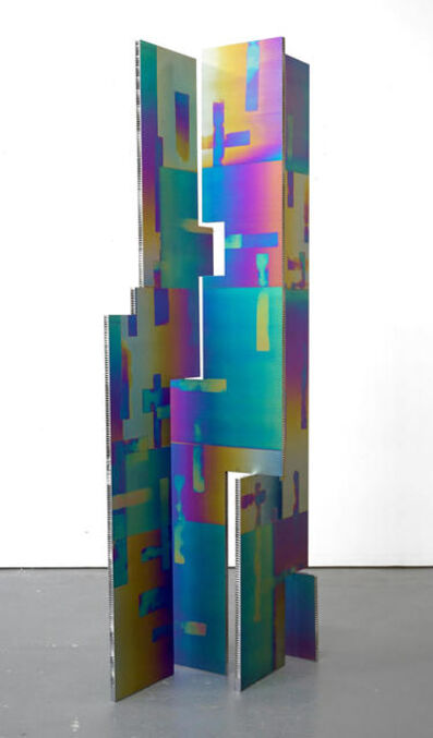 Mark Hagen, 'To Be Titled (Additive and Subtractive Sculpture, Titanium Screen, Panels 2, 3, 4, 5)', 2015