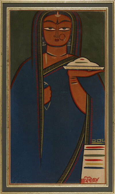Jamini Roy, 'Untitled (Pujarin)', n/a