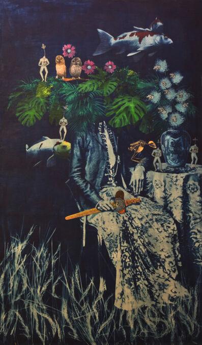 Budi Agung Kuswara, 'Eastern Fortune (deep blue mirror series)', 2019