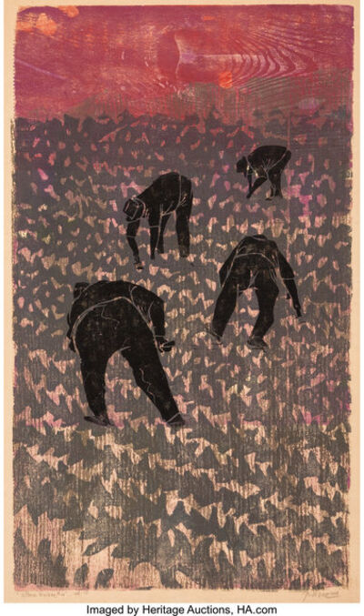 Antonio Frasconi, 'Lettuce Workers #4', 1968