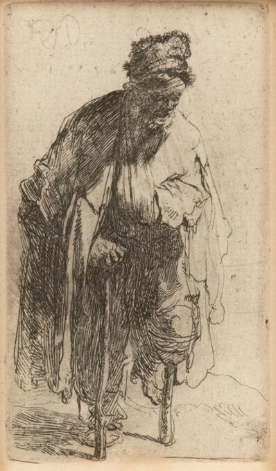 Rembrandt van Rijn, 'Beggar with Wood Leg'