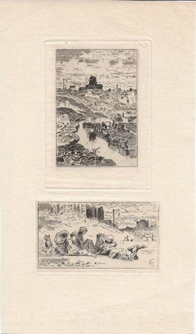 Félix Hilaire Buhot, 'Le puits de la Butte-aux-Cailles [and] Les chiffonniers', 1872