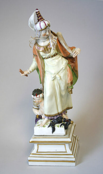 Berlin Porcelain Factory, 'Allegorical Figure of Asia', 1769-1770