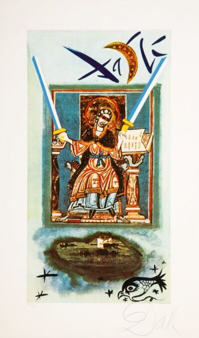 Salvador Dalí, 'Two of swords, Lyle Stuart Tarot Prints', 1978