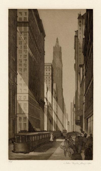 John Taylor Arms, 'Downtown, New York', 1921