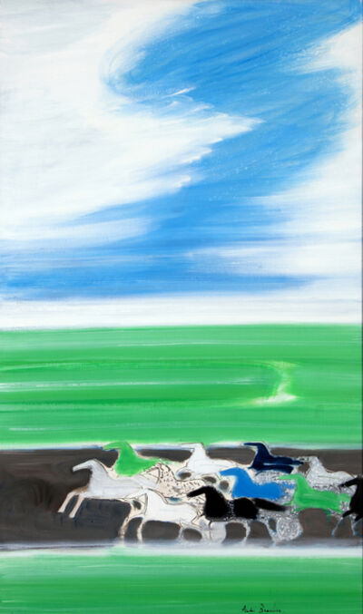 Andre Brasilier, 'Courses devant la mer ', 1991