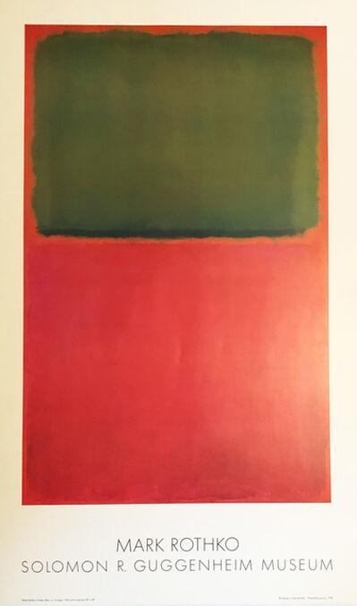 Mark Rothko, 'Mark Rothko 1978 Guggenheim Museum exhibition poster', 1978