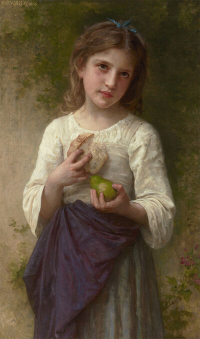 William-Adolphe Bouguereau, 'The Frugal Meal', 1898